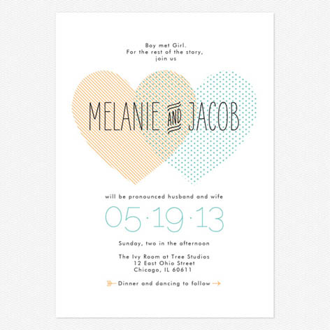 venn diagram wedding invitations, Wedding invitations