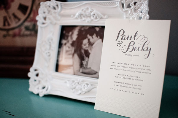 Paul & Becky Letterpress Wedding Invitations