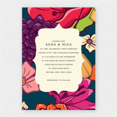 Vintage Floral Wedding Invitations | Up Up Creative
