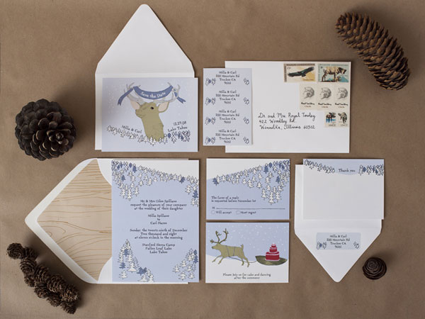 Snowy Woods Wedding Invitations