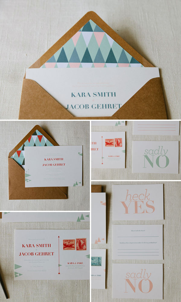 AllieRuth Kara Wedding Invitations