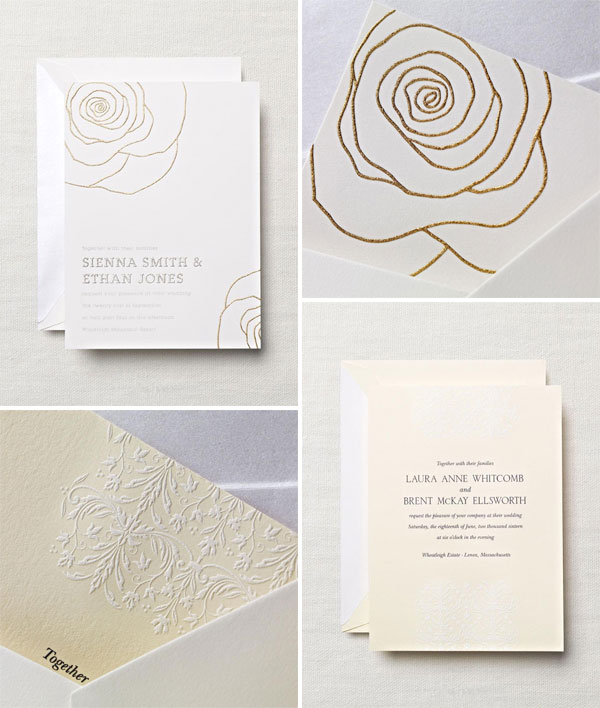 Modern hand engraved wedding invitations by crane co hand engraved wedding invites stopboris Choice Image