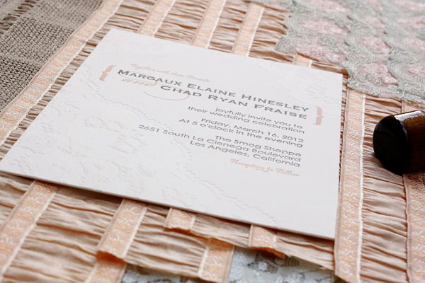 Letterpress Lace Wedding Invites