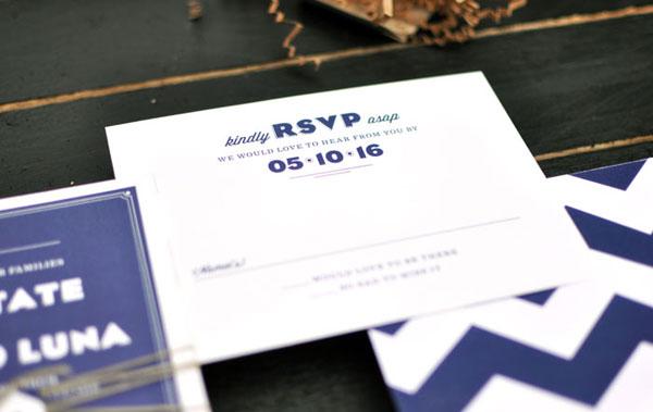 Navy & Ivory RSVP Card