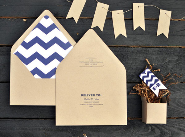 Modern Kraft Invitation Envelopes