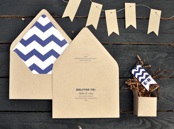 Modern Kraft Invitation Envelopes