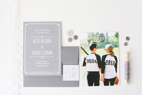 Playful Baseball Themed Save the Dates