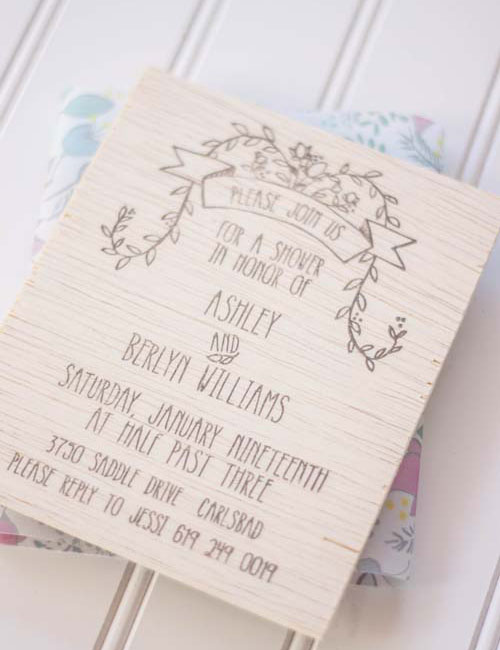 Sweet Woodland Baby Shower Invitations