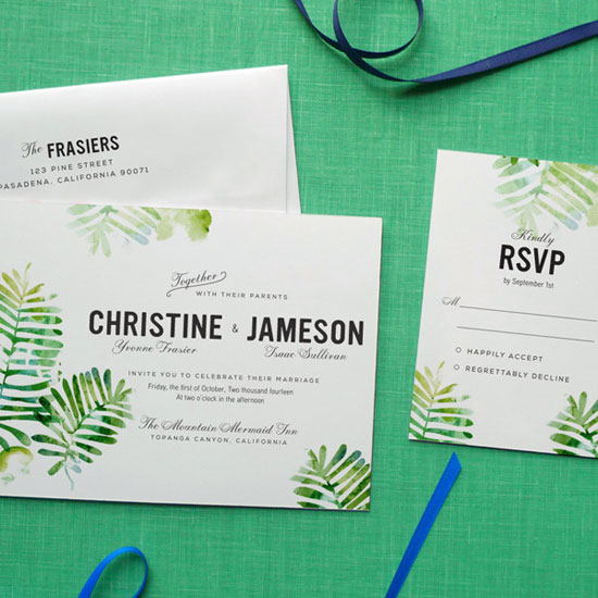 Forest Fern Wedding Invitations