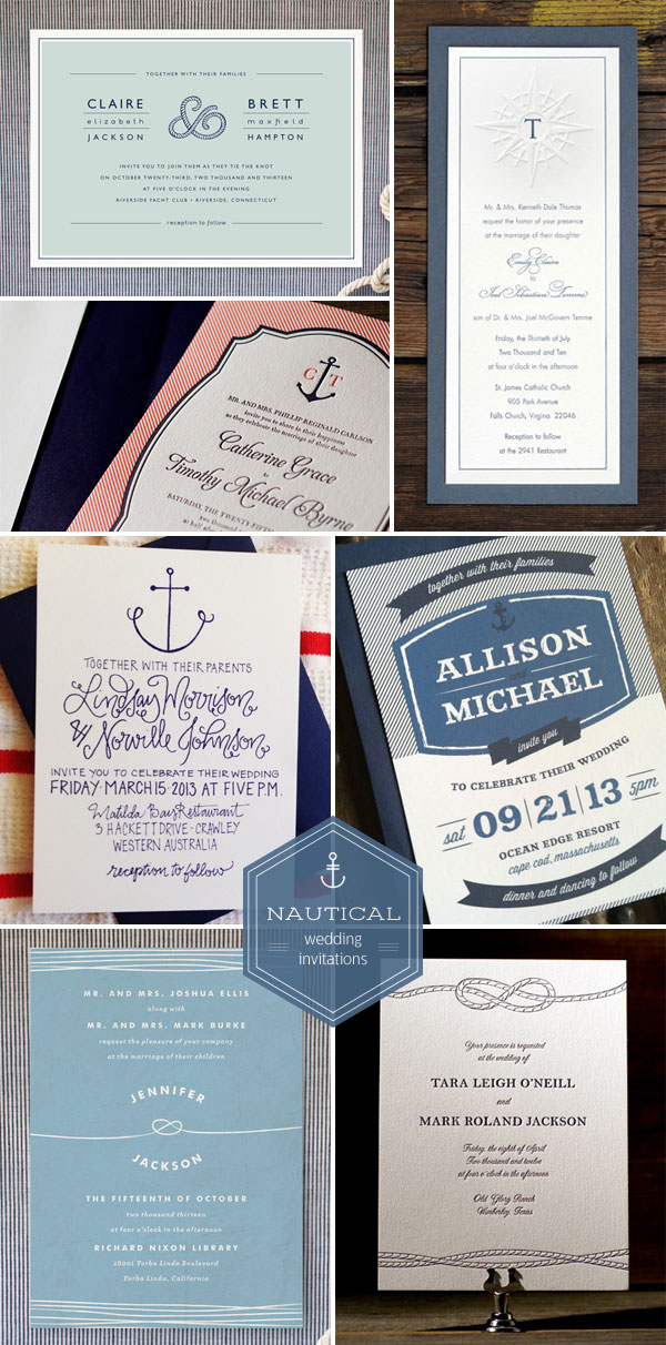 Nautical Wedding Invitations Invitation Crush – Nautical Wedding Invite