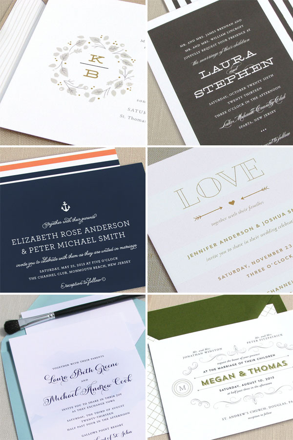 Modern, Typographic Wedding Invitations | The Occasional Hello