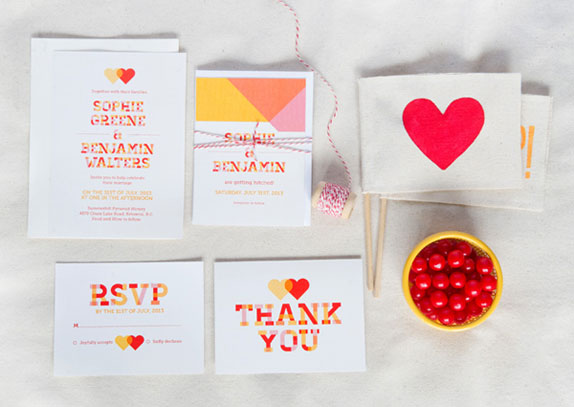 Pretty in Plaid Wedding Invitations | Uschi & Kay