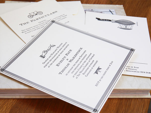 Ephemera Letterpress Wedding Invitations | Artcadia