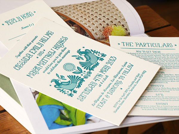 Tinker Letterpress Wedding Invitations | Artcadia