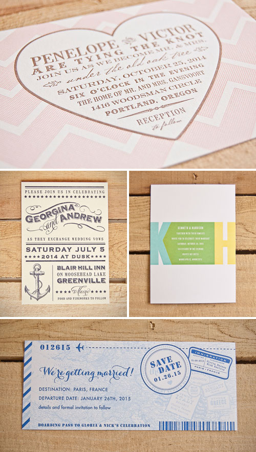 Bliss Collection from Spark Letterpress