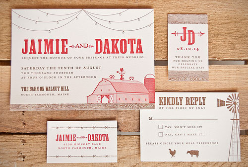 Jaime Wedding Invitations | Spark Letterpress