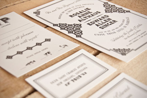 Rosalie Wedding Invitations | Spark Letterpress