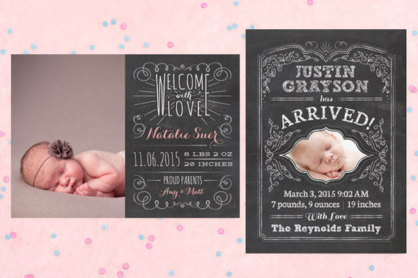 Chalkboard Baby Announcements | Love vs. Design
