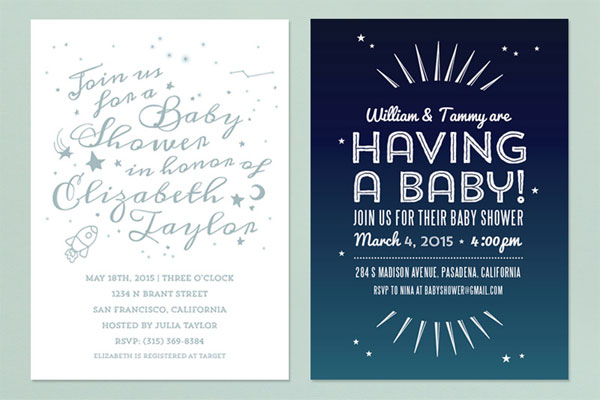 Modern Baby Shower Invitations | Love vs. Design