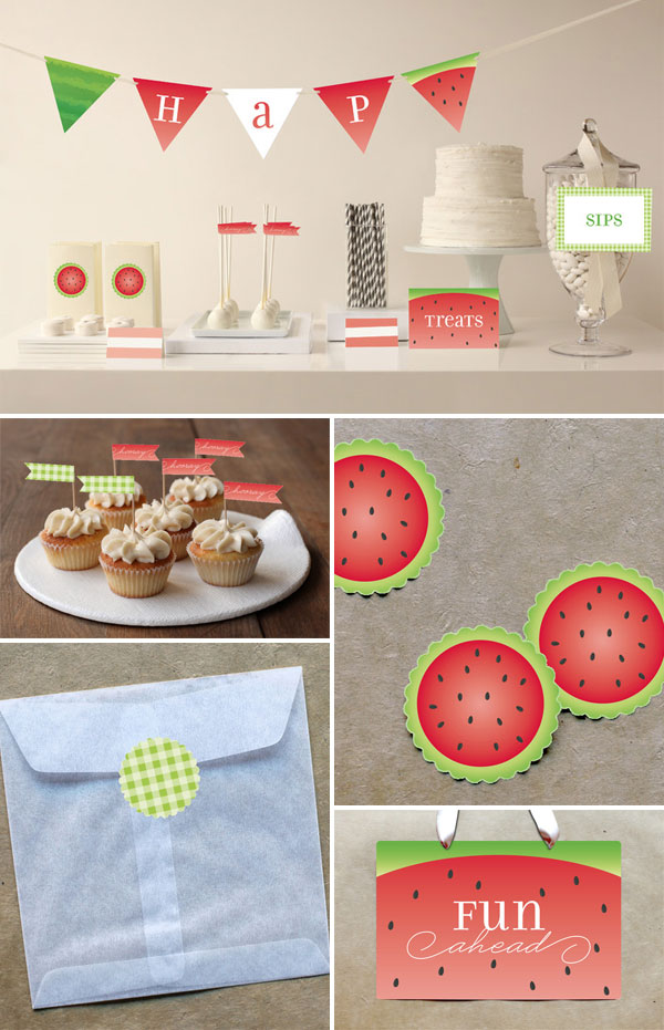 Watermelon Party Goods | Jill Means for Minted
