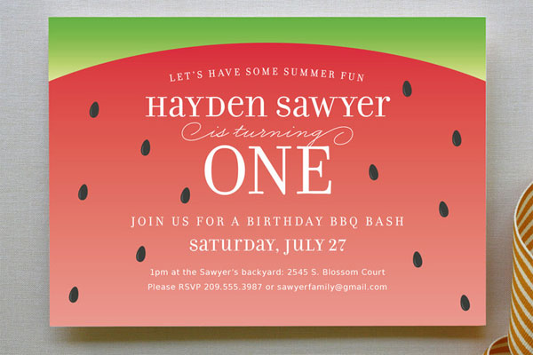 Watermelon Party Invitations | Jill Means for Minted