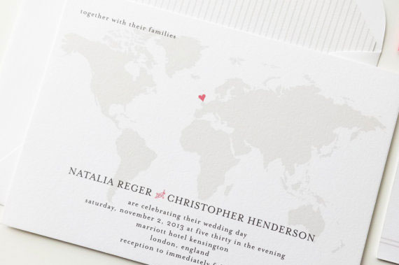 Traveller Wedding Invitations | A Visual Concept