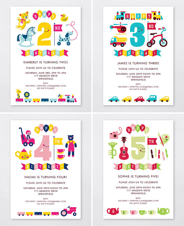 Kids' Birthday Invites | Esther Aarts for Hello! Lucky