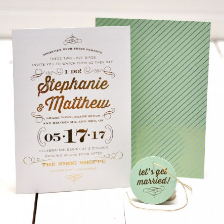 I Do Wedding Invitations | Smitten on Paper