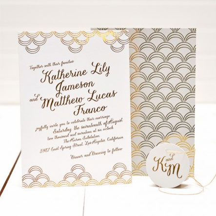 Cascade Wedding Invitations | Smitten on Paper
