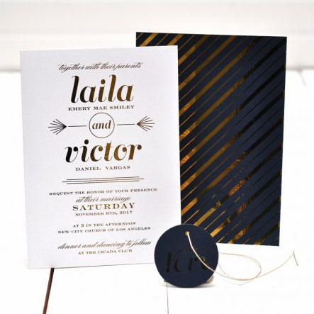 Starstruck Wedding Invitations | Smitten on Paper