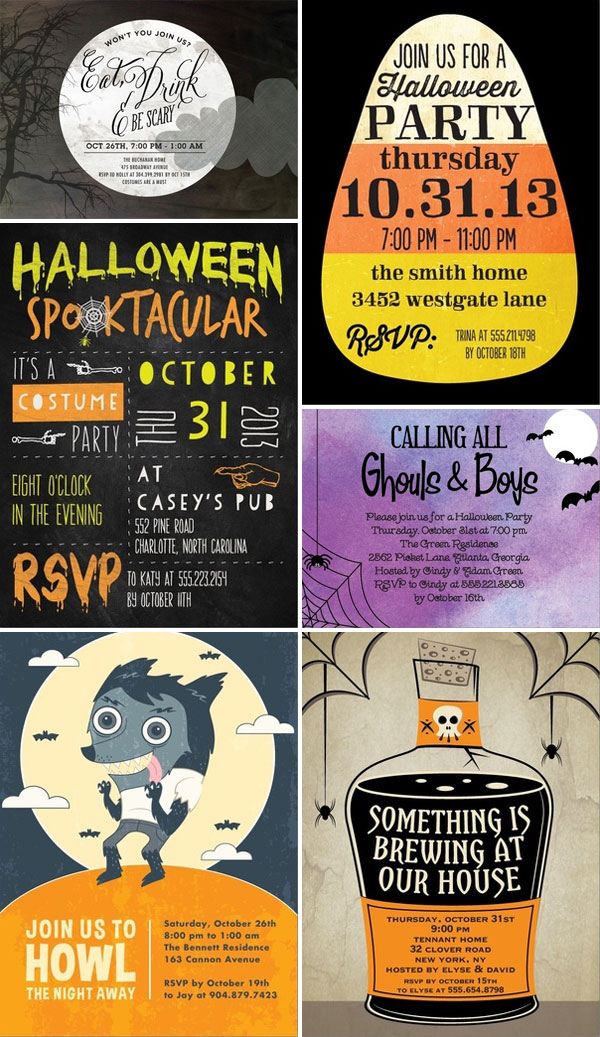Halloween Party Invitations from Tiny Prints