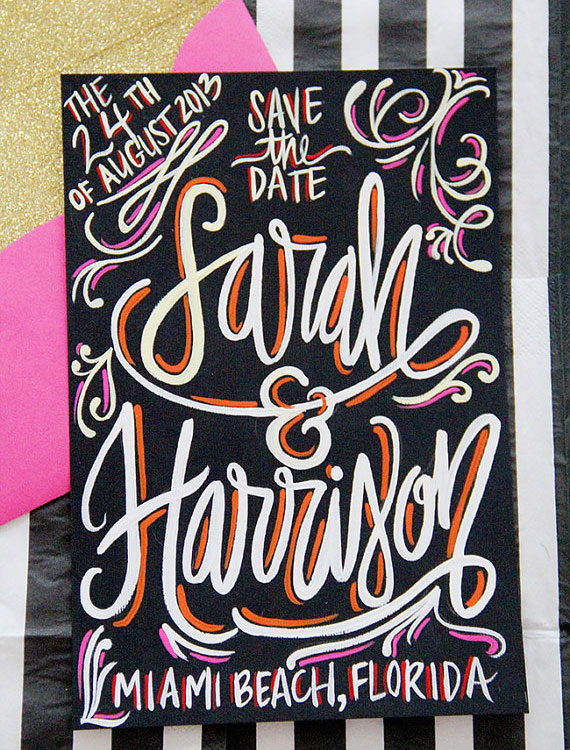 Hand Lettered Save the Date | Shannon Kirsten