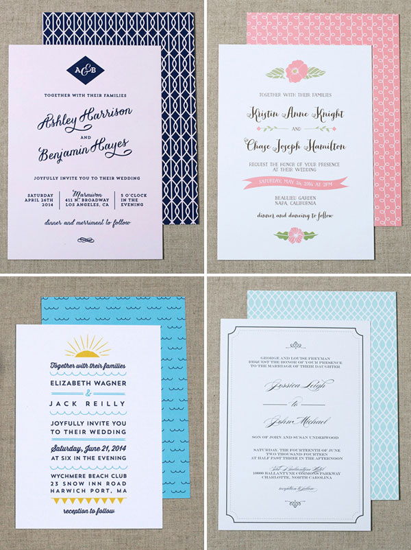 Modern Wedding Invites from Crafty Pie Press