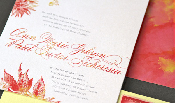 Elegant Dahlia Watercolor Wedding Invitations with a Secret Star Wars Detail | Anticipate Invitations