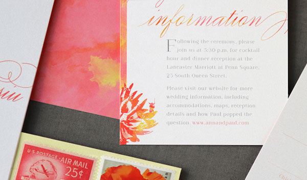 Yoda Detail Wedding Information Card | Anticipate Invitations