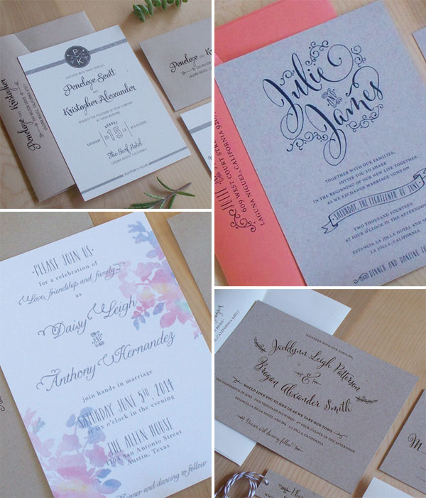 Whimsical and Rustic Wedding Invitations | Jen Simpson Design
