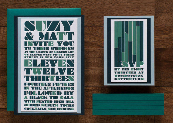 Foundry (Dressed) Letterpress Wedding Invitations | Tweedle Press