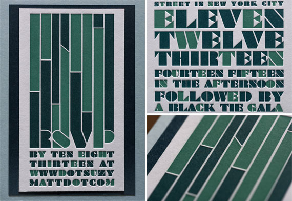 Foundry (Dressed) Letterpress Wedding Invitations (detail) | Tweedle Press