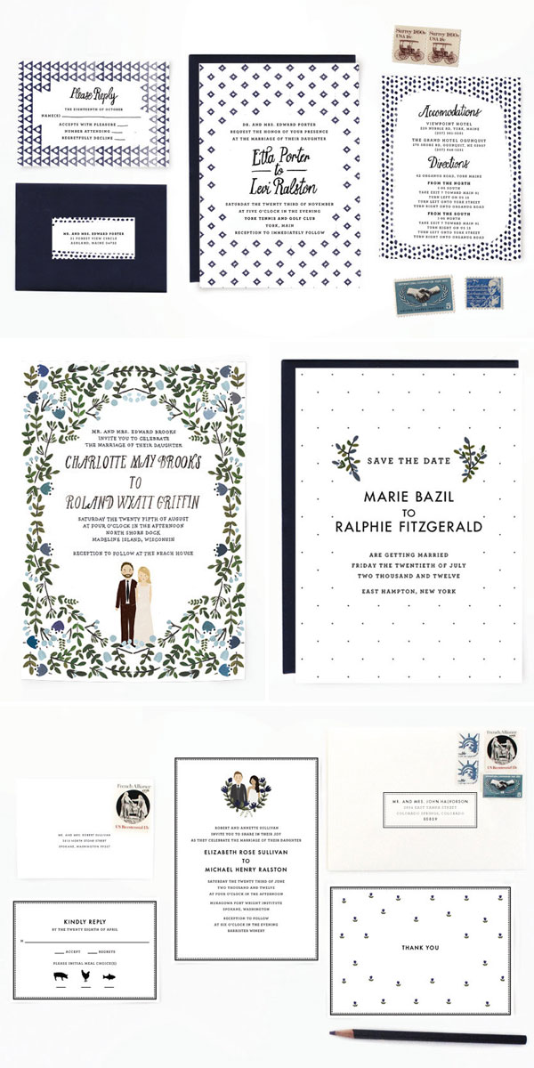 Quirky, Modern Wedding Invites | Color Me Carla
