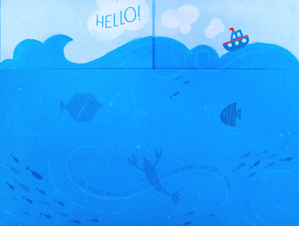 Angela + Dominic's Nautical Mermaid-Themed Wedding Stationery | Design : Angela Navarra & Printing : Rolling Press
