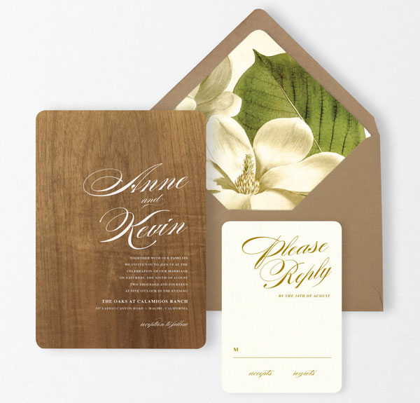 Aspen Wedding Invitation Suite | Oak & Orchid