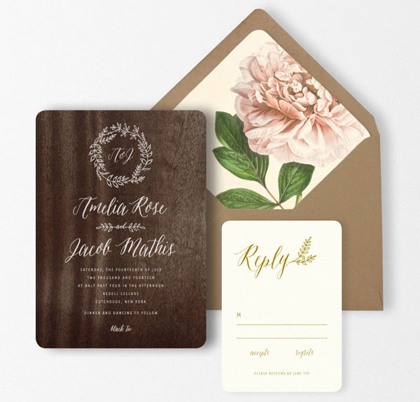 Laurel Wedding Invitation Suite | Oak & Orchid
