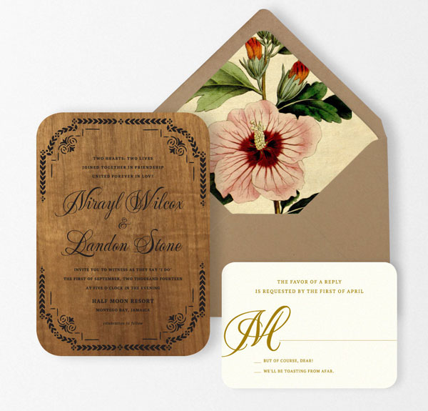 Kaya Wedding Invitation Suite | Oak & Orchid