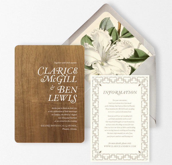 Ramone Wedding Invitation Suite | Oak & Orchid