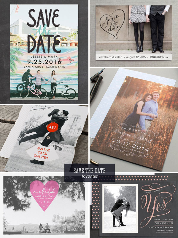 Photo Save the Date Favorites as seen on invitationcrush.com