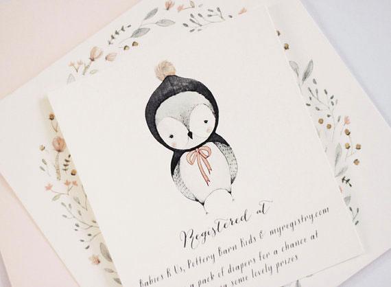 Sweet Winter Owl Invitations | Kelli Murray