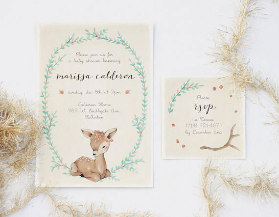Baby Fawn Baby Shower Invitations | Kelli Murray