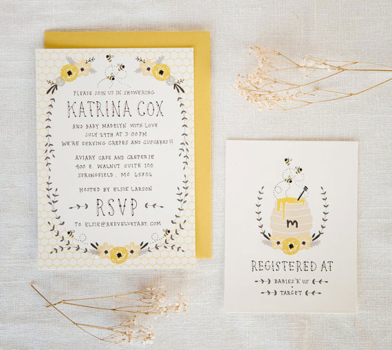 Honey Bee Baby Shower Invitations | Kelli Murray