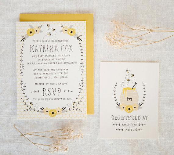 Honey Bee Baby Shower Invitations | Kelli Murray