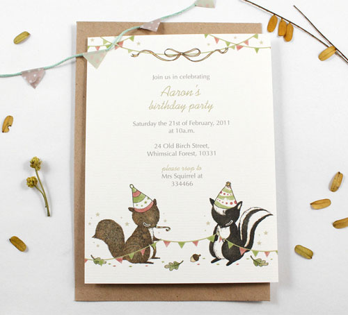 Awesome Party Personalized Invitations | Whimsy Whimsical